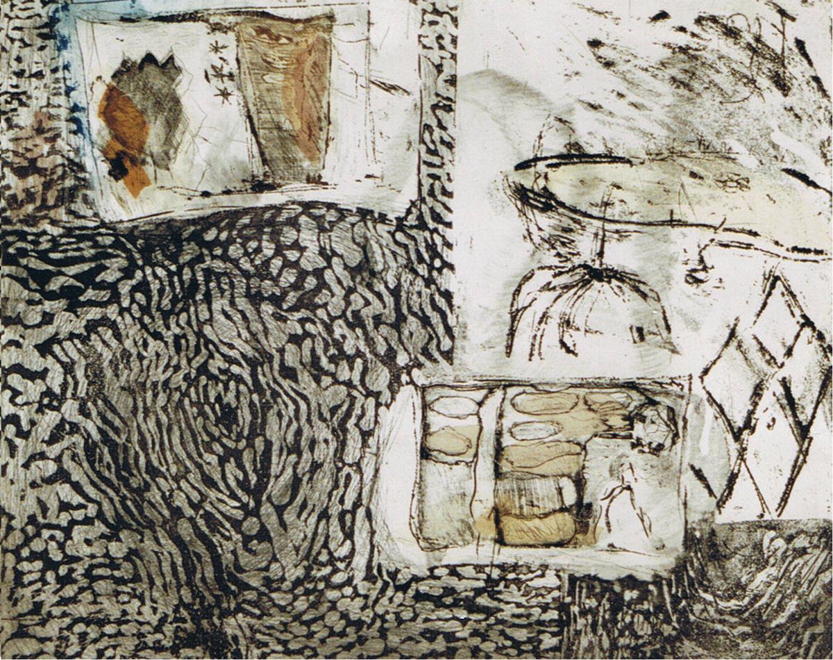 Ardennen Etscollage 50-60cm 1994