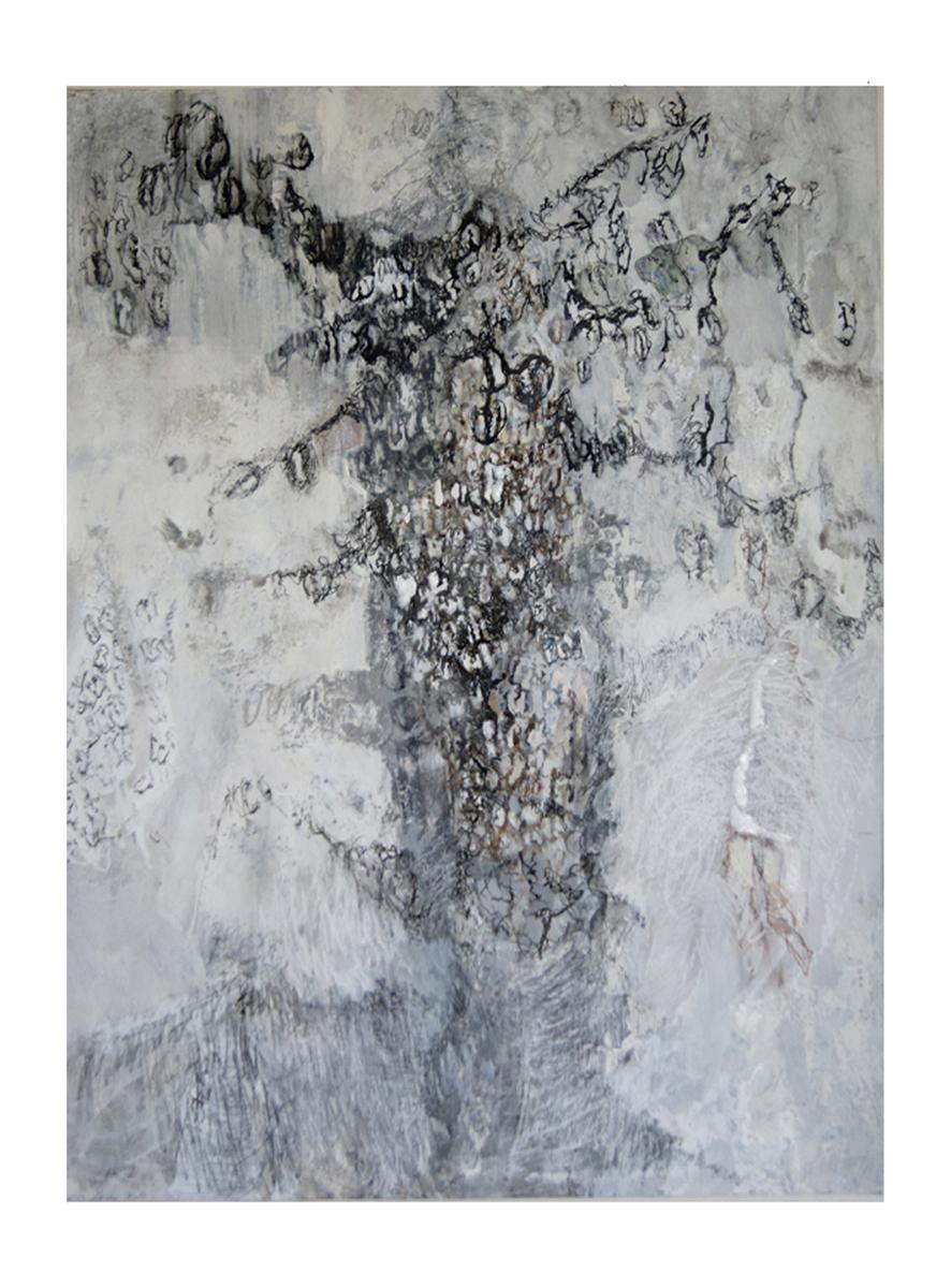 Kauriboom Gemengde techniek 67-52 cm 2016