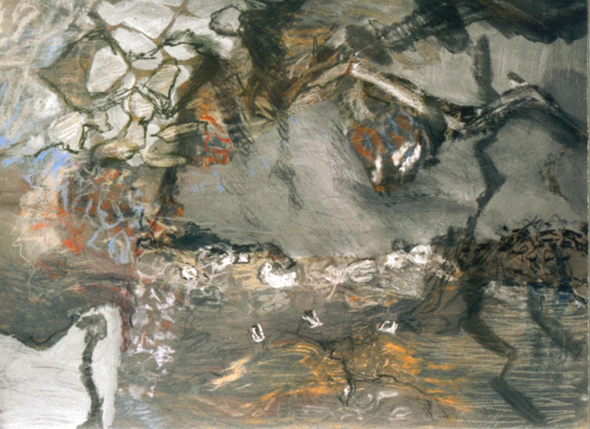 Kaurischelpen I Gemengde techniek 74-55 cm 2002