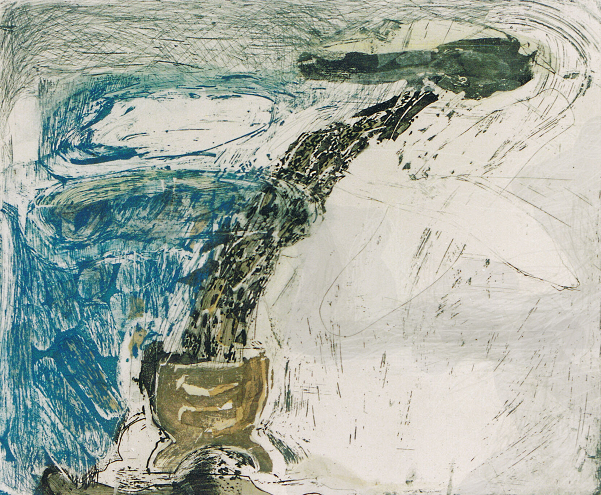 Lawine Etscollage 50-60 cm 1991