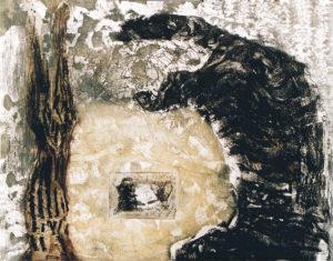 Dubbelportret Etscollage 50-60cm 1993