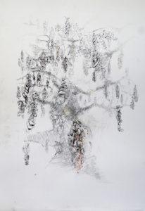 Hoofdboom 2 Gemengde techniek 67-90cm 2016