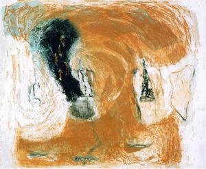 Mali, belletjes. Etscollage 60-50 cm 1997